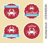 sea food design over pink...