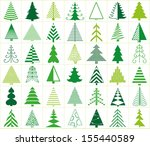 42 christmas trees | Shutterstock .eps vector #155440589