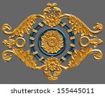 ornament of gold plated vintage ... | Shutterstock . vector #155445011