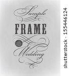 typography  calligraphic design ... | Shutterstock .eps vector #155446124