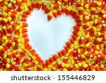 Heart Shape In Candy Corn