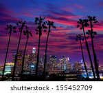 downtown la night los angeles... | Shutterstock . vector #155452709