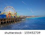 santa monica pier ferris wheel... | Shutterstock . vector #155452739