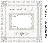 wedding frame for photo | Shutterstock . vector #15545275