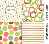 fun seamless hipster background ... | Shutterstock .eps vector #155453885
