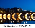 The Maine river and old bridge at  Angers , Loire Valley, France