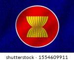 flag of asean economic...   Shutterstock . vector #1554609911