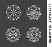 set of geometric mandala... | Shutterstock .eps vector #1554619274