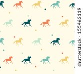 Colorful Horse Seamless Patter...