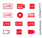 online video broadcasting icon...   Shutterstock .eps vector #1554647777