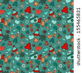 winter seamless pattern in...   Shutterstock .eps vector #155465831