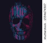 skull illustration  tee shirt... | Shutterstock .eps vector #1554674507