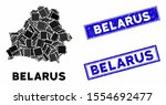 mosaic belarus map and... | Shutterstock .eps vector #1554692477