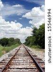 Railroad Tracks In Riral Texas  ...