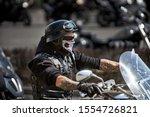 Brutal Biker With Skeleton Mask....