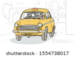 drawing of a calcutta local... | Shutterstock .eps vector #1554738017