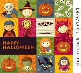 halloween greeting card   Shutterstock .eps vector #155476781