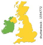 uk and ireland outline in... | Shutterstock . vector #1554772