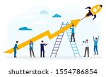 business boost or successful... | Shutterstock .eps vector #1554786854