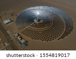 Aerial View Of Solar Thermal...