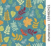autumn pattern. print on fabric ... | Shutterstock .eps vector #155482421