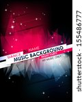 vertical music background with... | Shutterstock .eps vector #155486777
