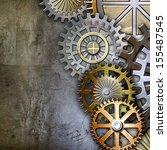 metallic gears background | Shutterstock . vector #155487545