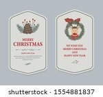 christmas label and christmas... | Shutterstock .eps vector #1554881837