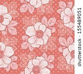 decorative seamless floral... | Shutterstock .eps vector #155489051