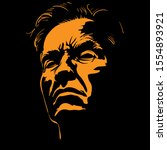 old man portrait silhouette in...   Shutterstock .eps vector #1554893921