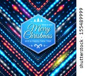 typographic label for merry... | Shutterstock .eps vector #155489999