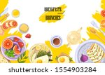 vector breakfast and brunch... | Shutterstock .eps vector #1554903284