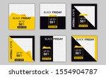 black friday media social post... | Shutterstock .eps vector #1554904787