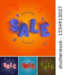 3d sale clearance type.... | Shutterstock .eps vector #1554913037