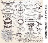 vector set of calligraphic... | Shutterstock .eps vector #155491511