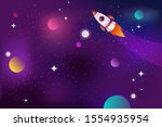 horizontal space background... | Shutterstock .eps vector #1554935954