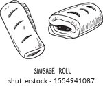 Sausage Roll. Vector Hand Drawn ...