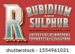 vector alphabet of ornate... | Shutterstock .eps vector #1554961031