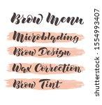 hand written lettering brow... | Shutterstock .eps vector #1554993407