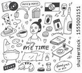 me time concept doodle...   Shutterstock .eps vector #1555003151