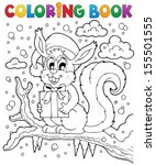 coloring book christmas... | Shutterstock .eps vector #155501555