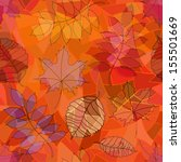 seamless pattern of autumn... | Shutterstock .eps vector #155501669