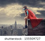 a young boy dreams of becoming... | Shutterstock . vector #155509727