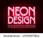 vector glowing sign neon design....   Shutterstock .eps vector #1555097861