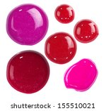 several drops of red and pink...   Shutterstock . vector #155510021