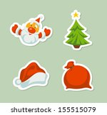 christmas icons the background... | Shutterstock .eps vector #155515079