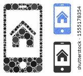 smartphone homepage mosaic of... | Shutterstock .eps vector #1555178354