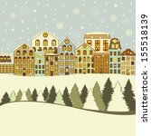 christmas greeting card with... | Shutterstock .eps vector #155518139