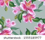 Background Of Orchid Flowers....