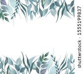 green leaves background.... | Shutterstock . vector #1555199837